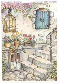 Bird cage and stair steps
