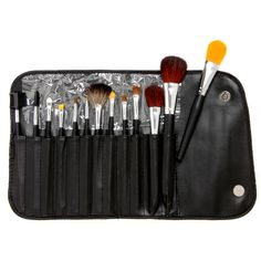 Complete your makeup kit with this 13-piece brush set. Perfect for travel, this set is easy to transport with you regardless of where you are headed.