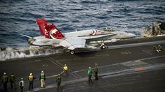 https://flic.kr/p/PEQw4Y | An F/A-18C Hornet launches from the flight deck USS Dwight D. Eisenhower. | MEDITERRANEAN SEA (Dec. 13, 2016) An F/A-18C Hornet assigned to the Wildcats of Strike Fighter Squadron (VFA) 131 launches from the flight deck of the aircraft carrier USS Dwight D. Eisenhower (CVN 69). Eisenhower, currently deployed as part of the Eisenhower Carrier Strike Group, is conducting naval operations in the U.S. 6th Fleet area of operations in support of U.S. national security…
