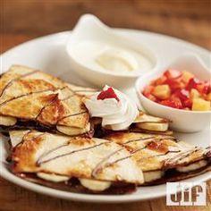 Banana Split Quesadilla from Jif®