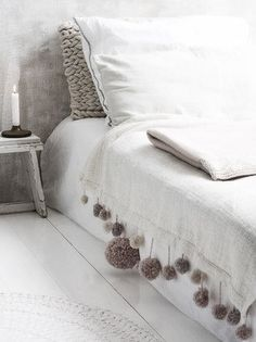 white bedroom, blanket, More