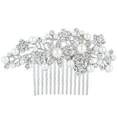 EVER FAITH Bridal Silver-Tone Flower Simulated Pearl Clear Austrian Crystal Hair Comb N00413-1 EVER FAITH http://www.amazon.com/dp/B00CPJBZXU/ref=cm_sw_r_pi_dp_tcNmvb14Q9V66