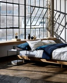 Modern Bedroom Ideas - Trying to find the most effective bedroom decor ideas? Utilize these beautiful modern bedroom ideas as inspiration for your very own incredible designing plan . Loft Apartment Decorating, Dream Apartment, Industrial Bedroom, Industrial House, Industrial Loft Apartment, Urban Industrial, Industrial Interiors, Industrial Style, Modern Loft Apartment