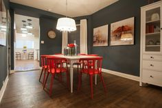 Nicole and Michelle's bold, modern dining room #IncomeProperty