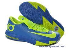 best website 92158 7e9ca Pas Cher Nike Zoom KD 6 599424-400 Sprite Royal Bleu Volt Sport Nike,