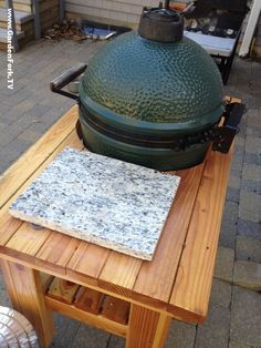 6 DIY Big Green Egg Table Projects | Shelterness