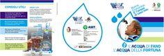 """Per Aset, Asur e Comune di #Fano abbiamo realizzato il pieghevole per la campagna """"Acqua di Fano, acqua della Fortuna"""" che mira a sensibilizzare i cittadini sull'uso dell'acqua di rubinetto al posto della minerale. #comunicazione #sensibilizzazione #acqua"""