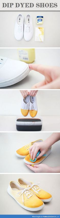 Dye your shoes with an interesting color