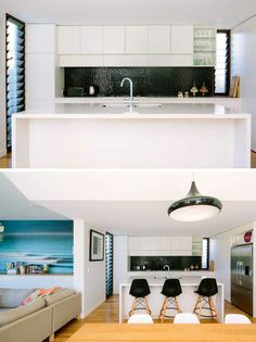 Kitchen design ideas - 9 backsplash ideas for a white kitchen // create a bit Cheap Backsplash Tile, Backsplash For White Cabinets, Copper Backsplash, Beadboard Backsplash, Herringbone Backsplash, Backsplash Ideas, Traditional Kitchen Backsplash, White Kitchen Decor, Kitchen Ideas
