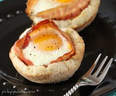 Bacon/Cheese Egg McMuffin... so easy!