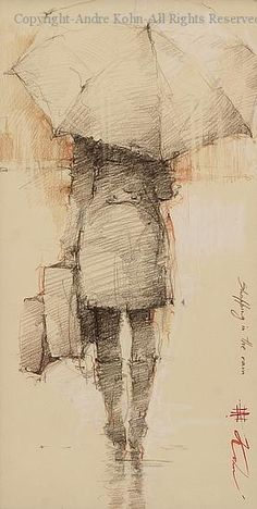 Shopping in the Rain - Conte by Andre Kohn