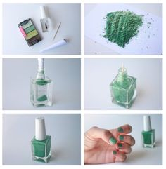 Make Your Own Nail Polish in any color using old eyeshadow & clear nail polish!