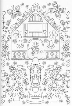 Scandinavian Coloring Book Pg 25