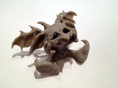 polymer clay goblin baby - by Elvenworks on Etsy
