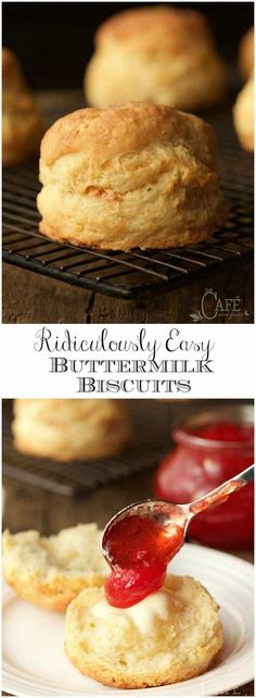 Easy as in, less than 10 minutes to throw together. Next thing you know, tall, flaky, incredibly delicious biscuits! will be rolling out of your oven! via The Café Sucre Farine Bread Recipes, Cooking Recipes, Cooking Ideas, Scone Recipes, Hamburger Recipes, Cooking Games, Cooking Classes, Chicken Recipes, Vol Au Vent