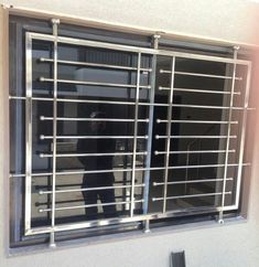 Stainless Steel Window Grill Home Window Grill Design, Window Grill Design Modern, Balcony Grill Design, Grill Door Design, Balcony Railing Design, House Gate Design, Window Design, Iron Window Grill, Door Grill