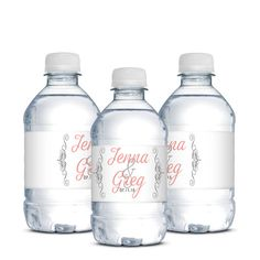 Wedding Water Bottle Labels,Personalized Waterproof Labels | Designed By M.E. Stationery