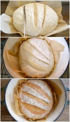 Baking super easy artisan bread in an enameled cast iron dutch oven provides that perfect commercial-oven crust. Grab this no-knead artisan bread recipe and make this asap! Dutch Oven Bread, Dutch Oven Cooking, Cast Iron Dutch Oven, Dutch Ovens, Cooking Okra, Cooking Bacon, Italian Cooking, Vegetarian Cooking, Cooking Tools