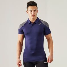 Gymshark DRY Apex Polo - Sapphire Blue - All Products - Shop By Category - Mens