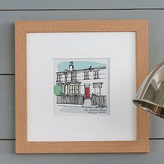 Personalised House Portrait - great keepsake, drawing of the first house you shared or owned etc