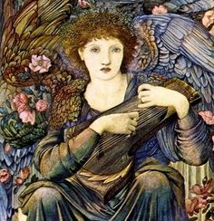 7. Angel of Creation (detail) of the Seventh day at rest.  -  Edward Burne-Jones (1833-1898)