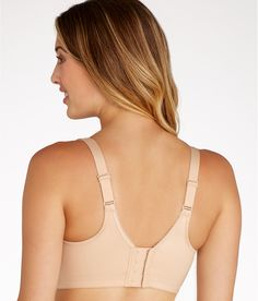 Wacoal bras are known for their superior fit and brilliant design. Close-set straps create a secure fit and make this beautiful underwire smoothing bra a must-have for the fuller busted woman.
