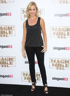 Sporty: ESPN host Michelle Beadle was business as usual in black trousers and patterned to...