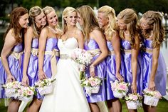 Instead of traditional bouquets, the bridesmaids carried baskets down the aisle!