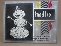 """Snow Day"" using Blackboard technique for more info, visit my blog:  www.stampingwithpennie.com"