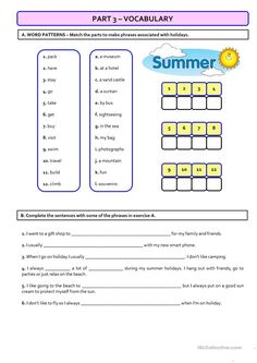 TEST (A1) – holidays - version B (students with special needs)