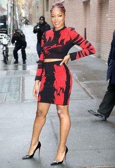 Keke Palmer is seen at 'The View' in New York City.