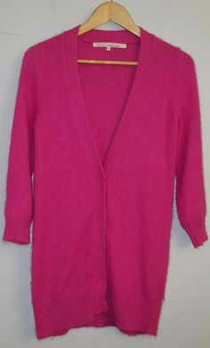 RACHEL ROY PINK ANGORA/POLYESTER SNAP FRONT CARDIGAN SIZE S | Clothing, Shoes & Accessories, Women's Clothing, Sweaters | eBay!