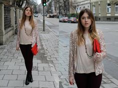 Burgundy, nude and a touch of sparkle (by Amy Ramírez) http://lookbook.nu/look/4687839-Burgundy-nude-and-a-touch-of-sparkle