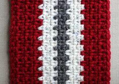 Vertical Stripe Crochet Scarf (Unisex) — Eating Out Loud