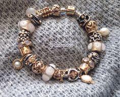 Pandora Jewelry OFF! Classic Pandora two-tone charms will always be my favorite. Pandora Bracelets, Pandora Jewelry, Charm Jewelry, Pandora Charms, Tiffany, Pandora Gold, Brighton Jewelry, Jewelry Design, Gems