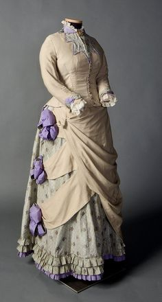 Day dress ca. 1882-85 From the Smith College Historic Costume Collection