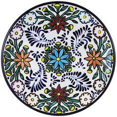 Tomas Huerta TalaveraPlate - Pattern 16 ♥️♣️♣️Talavera Mexican Pottery : More At FOSTERGINGER @ Pinterest ♣️