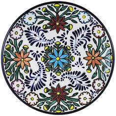 Tomas Huerta TalaveraPlate - Pattern 16 ♥️♣️♣️Talavera Mexican Pottery : More At FOSTERGINGER @ Pinterest ♣️
