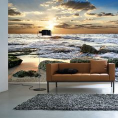 Sunset Coast - Wall mural, Wallpaper, Photowall, Home decor, Fototapet, Valokuvatapetit