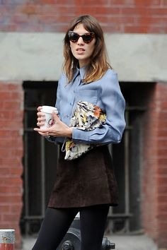 Alexa Chung's floral bag | Sumally