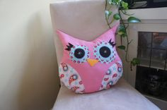 so cute! owl pillow