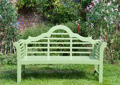 Buy Lutyens bench - crocus green: Delivery by Waitrose Garden in association with Crocus