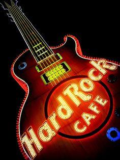 Hard Rock Cafe sign in Las Vegas, Nevada - Big neon by bekahpaige