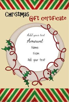Download the Christmas Gift Certificate from Vertex42.com It ...