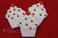 Beautiful Cupcake Cookies
