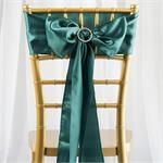 """Go to 5pcs Hunter Green SATIN Chair Sashes Tie Bows Catering Wedding Party Decorations – 6 x106"""""""