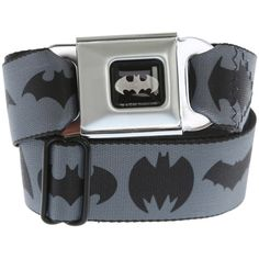 DC Comics Batman Logos Seat Belt Belt | Hot Topic ($27) ❤ liked on Polyvore featuring accessories, belts, 31. belts., accessories. and batman