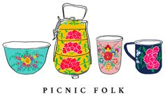Picnic Folk - metal cups, lunchboxes etc handpainted in India Reduce Waste, Healthy Alternatives, Picnic, Folk, Lunch Box, Hand Painted, Cups, India, Metal