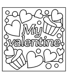 my valentine color page - Be My Valentine Coloring Pages