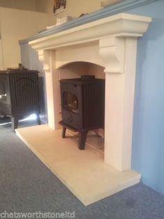 THE NORFOLK MULTI FUEL FIRE SURROUND / STONE FIREPLACE / FIRE PLACE SURROUND